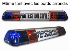 Rampe lumineuse Protection Civile - bleue et orange